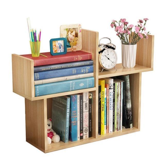 Children Desk Part - 44: Desktop Small Mini Bookshelf Simple Modern Student Bookcase Children Desk  Storage Shelves