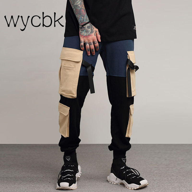 wycbk Side Pockets Cargo Pants Men Camouflage Mens Cargo Pants Twill Material Harem Pant ...