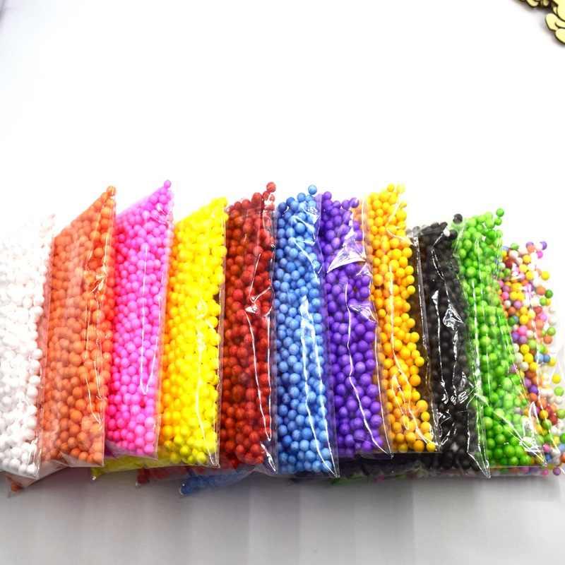 6-9 millimetri circa 1000 balls/11g mini colorato rotondo palle schiuma Bottiglia di Cristallo della decorazione del cuscino/ divano di riempimento palla di Polistirolo ogni sacchetto