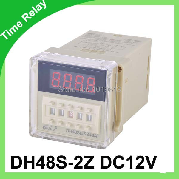 все цены на  12v time delay relay dh48s-2z 12v timer relay with socket  онлайн