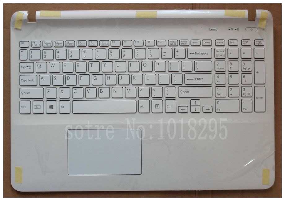 цена на US Laptop keyboard for sony Vaio SVF15 FIT15 SVF152 SVF153 SVF1541 SVF15E white with frame Palmrest Cover backlight Touchpad