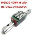 1 шт. HGR20 линейная направляющая ширина 20 мм Длина 400 мм с 1 шт. HGH20CA или HGW20CA слайдер для оси cnc xyz