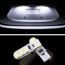 1 pcs super brilhante Luz Da placa de Licença Não T10 Erro 6SMD 5630 LED Para Ford Fiesta MK4/Fiesta 6/Mondeo 2 3 Carro Styling