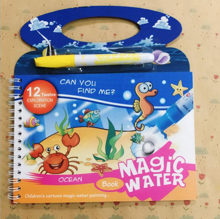 Image 5 - Reusable Magic Water Painting Book Magic Doodle pen Kids Coloring Doodle Drawing Board Toys Baby Educational Toy-in Drawing Toys from Toys & Hobbies