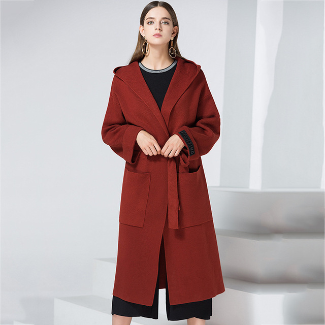 ec702a7641380 Runway Ladies Coats for Women Plus Size Long Designer Long Coat Wool Autumn  Winter Cape Cashmere Tweed Plus Size Overcoat