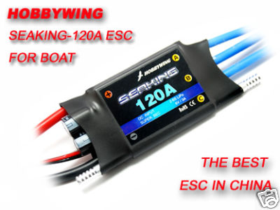 Hobbywing Seaking-120A Brushless ESC for RC Boat V2Hobbywing Seaking-120A Brushless ESC for RC Boat V2