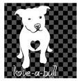New 10pcs/lot Waterproof Love A Bull Pitbull Car Stickers Waterproof Reflective Bulldog Car Decal