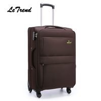 Letrend Men Rolling 28 Inch Luggage Spinner Travel Bag Suitcases Wheel Trolley Business Carry On luggage Women Password Trunk