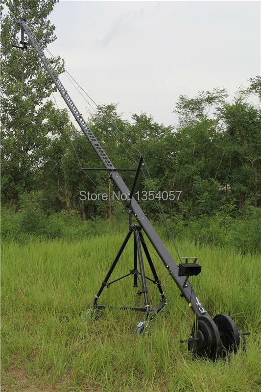 Control DV Controller Professional DV Camera Crane Jib 10m 12m square for Video Camera filming with 3 axis motorized head,