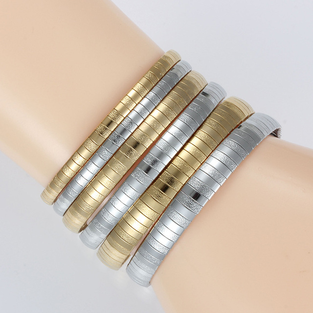 Top Fashion Stainless Steel Gold/Silver Chunky Necklace For Women Ladies Collar Choker Charm Romantic Wedding Jewelry 2019