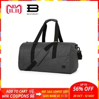 BAGSMART Men Travel Bag Large Capacity Carry on Luggage Bag Nylon Travel Duffle Shoe Pocket Overnight Weekend Bags Travel Tote