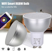 6W 4PCS LED Lamp LED Bulb RGBW AC85-265V WIFI Connected Intelligent Light Bulbs 16 Million Colors GU10 Base KTV Home Party Deco(China)