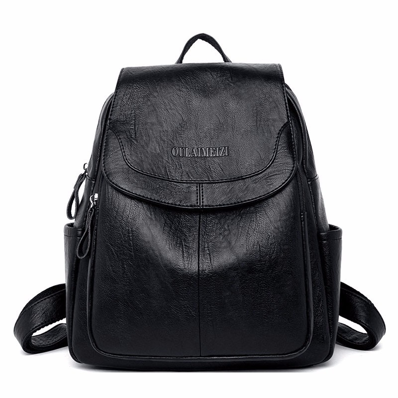 HTB1orgKaiLrK1Rjy1zdq6ynnpXaa 2019 Female Leather Backpacks High Quality Sac A Dos Ladies Bagpack Luxury Designer Large Capacity Casual Daypack Girl Mochilas
