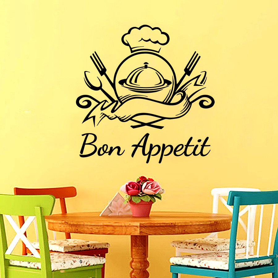 Bon Appetit Quote Wall Sticker For Dining Room Kitchen Wall Poster ...