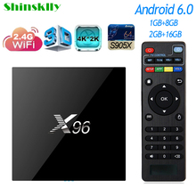 Shinsklly X96 Android TV Box Amlogic S905X Quad core RAM 2G+16G Android 6.0 Smart TV box WiFi 4K KODI Media Player set top box