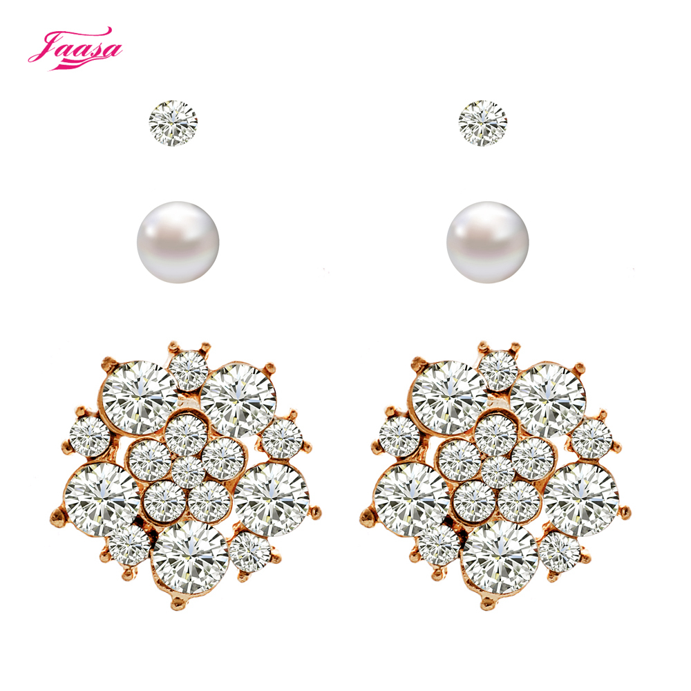 Women's Earrings New Design Punk Style 3 Different Types Of Stud Earrings  Set(china (