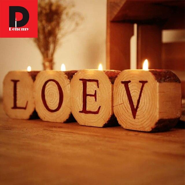 Us 160 Dehomy Creatieve 26 Engels Alfabet Kandelaars Liefde Thuis Kandelaar Valentijnsdag Bruiloft Thuis Hotel Decor Kaars Stand In Dehomy