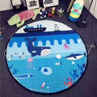 150cm Large Baby Play Mat Playmat Kids Toy Storage Bag Non Slip Bottom Portable Carry Outdoor