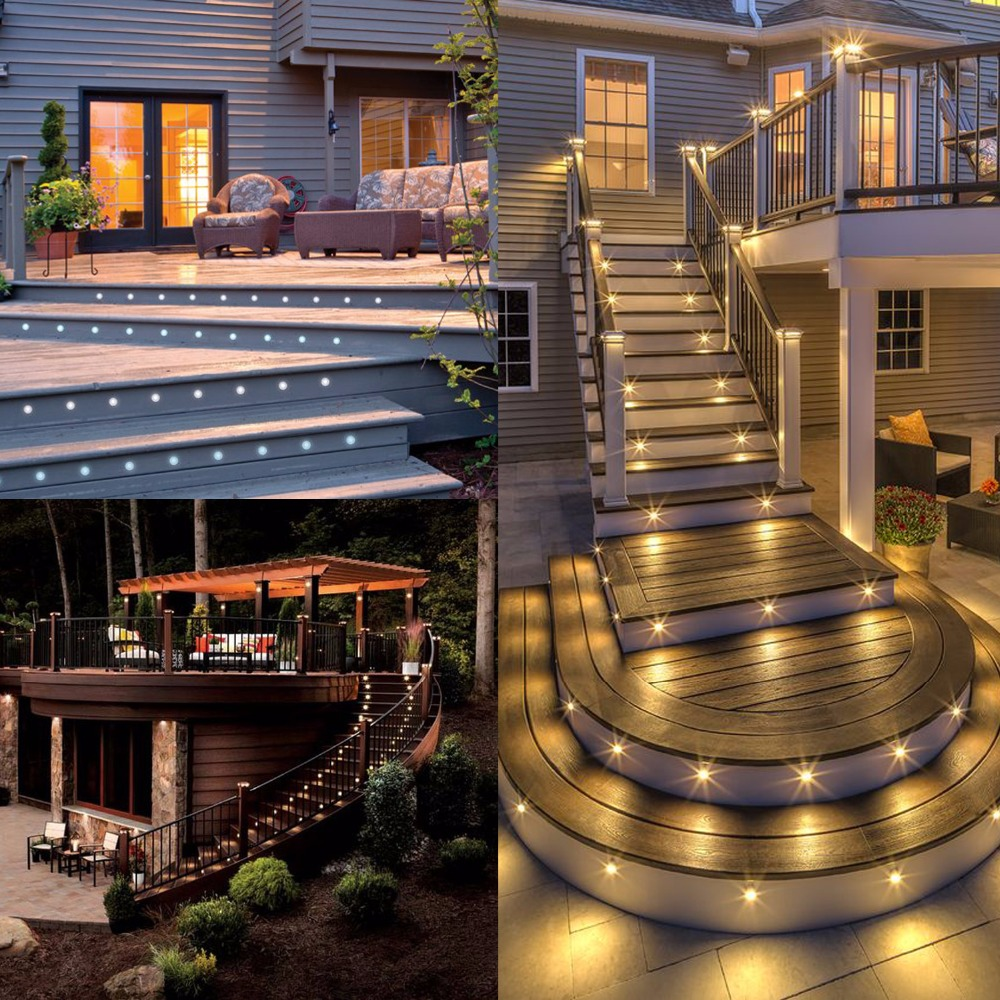 fashion recessed led fence lights under deck lighting led outdoor step stairway garden decking lighting ideas 20pcs set f102x 20