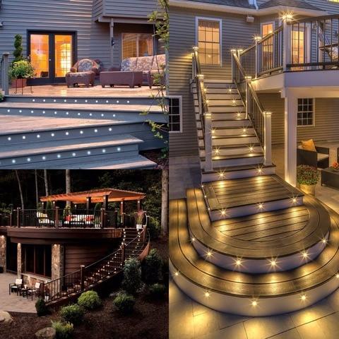 passo stairway iluminacao led ao ar livre