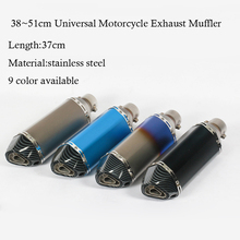 Universal 38~51mm Motorcycle Exhaust Muffler with DB Killer Stainless Steel For Scooter Dirt Bike Muffler Pipe YZF600 R6