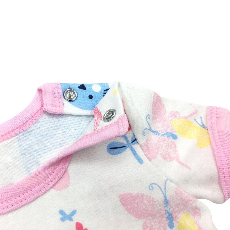 Хлопковые детские Комбинезоны шею Одежда для малышей для мальчиков с принтом Детский комбинезон 1 до 24 месяцев короткий рукав комбинезон дл...