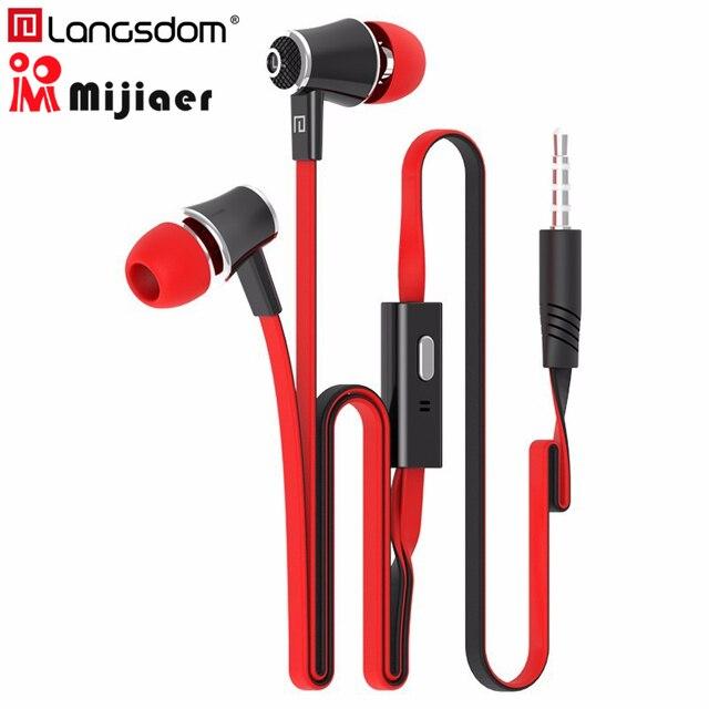 Langsdom JM21 dans l'oreille écouteurs pour téléphone iPhone Huawei Xiaomi casques écouteurs filaires avec micro écouteurs écouteur fone de ouvido
