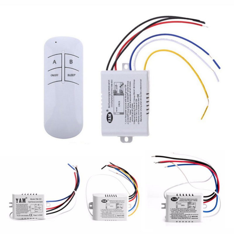 Wireless ON / OFF Lamp Remote Control Switch Receiver Transmitter 220 V 1/2/3 Ways wireless remote control switch 1 2 3ways on off 220v digital distance control switch receiver transmitter for led lamp light