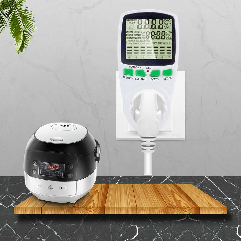 Compteur d'énergie Intelligent wattmètre prise de facturation compteur d'énergie KWh tension fréquence de courant moniteur d'électricité prise ue/US/royaume-uni