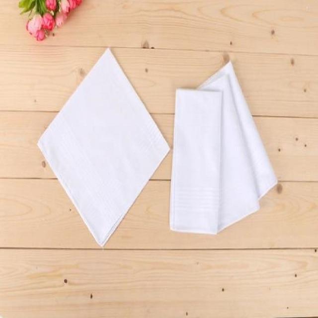 12 teile/los 100% Baumwolle Solide Weiß Männer Taschentuch Export artikel 40cm * 40cm