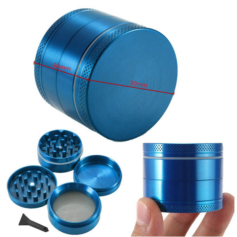 1 PC Mini 4 Layers Cigarette Tools Spice Herb Grinders Chromium Crusher Mill Zinc Alloy Smoke Detectors Tobacco Grinder