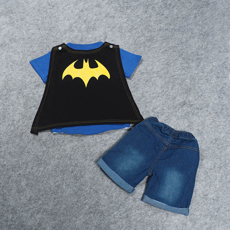 SAMGAMI-BABY-2017-Boys-Batman-Clothing-Cape-Cowboy-Suit-Kid-Apparel-Boys-Summer-Clothing-Set-T-shirt-Short-Denim-Pants-2