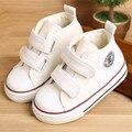 Zapatos de bebé Niña Lona de Los Niños zapatos de Los Muchachos 2017 Del Otoño Del Resorte de Moda de Alta zapatos de Algodón hecho a Bebé niña niños pequeños