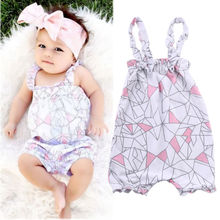 Infant Baby Girl Summer Clothes Sleeveless Floral Romper Jumpsuit Sunsuit Outfits 0-24M