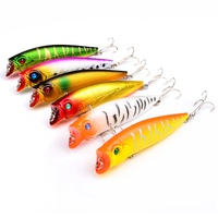 6PCS Artificial Spinner Lure Fake Bait Wave Pa New Freshwater Bass Plastic Big Poppa Fish Bait For Carp Fishing Outdoor Sport