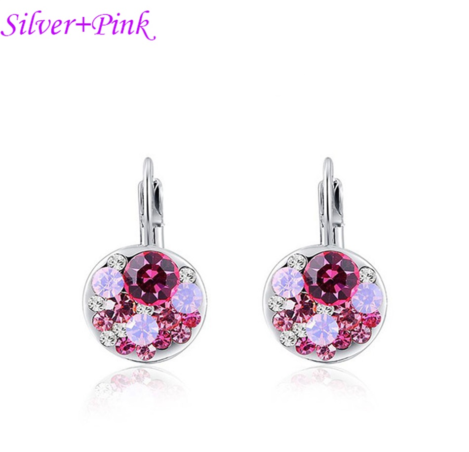 HTB1oriGacnrK1RkHFrdq6xCoFXa1 - Luxury Ear Stud Earrings For Women Fashion Round Charm Jewelry Romantic Lovely Accessories Gift Wholesale