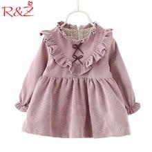 Фотография 2016 Baby Girls Dress Cute Minnie Long Sleeve Spring Sport Splice Princess Style Party Clothing Kids Clothing Free Shipping