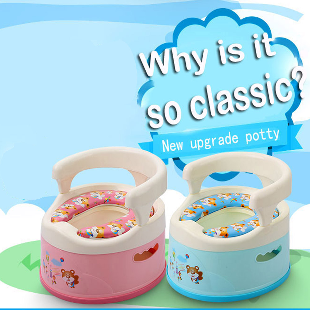 Wholesale Soft Portable Pot Plastic Kids Toilet Potty For Baby For Free Potty Brush