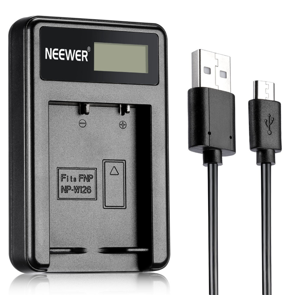 Neewer NW W126 USB Battery Charger for Fujifilm NP W126 and Fuji FinePix HS30EXR/HS33EXR/HS50EXR/X A1/X E1/X E2/X M1/X Pro1/X T1|Camera Charger|Consumer Electronics - title=