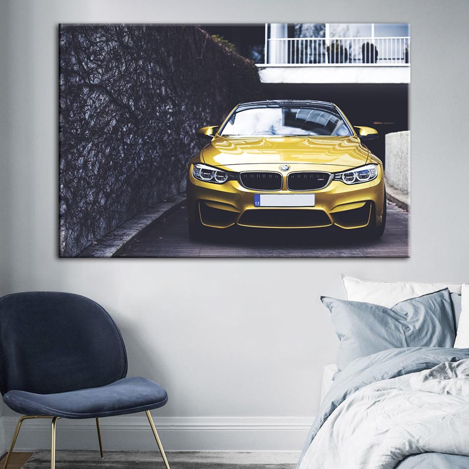 Rusty BMW Front Badge Car Retro Giant Wall Art Poster Print