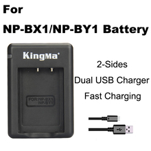 NP-BX1 charger NP BX1 NP-BY1 Bateria BY1 Dual sides USB Camera battery For Sony HDR-AS100v HDR-AZ1 AZ1VR AZ1VB AZ1VW