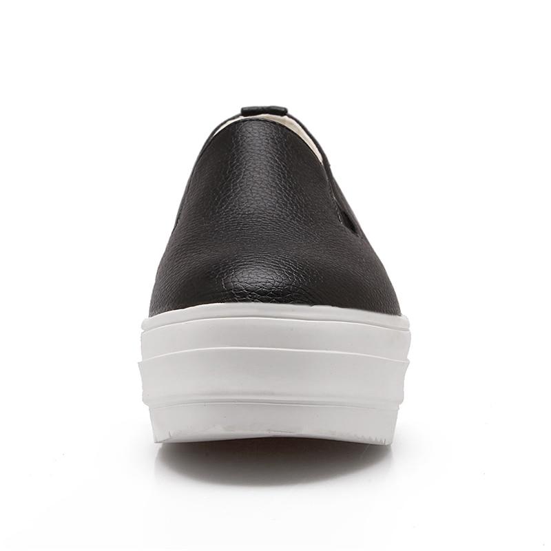 Blanc Chaussures Taille Plate Appartements Confortable Sur Femmes Mode forme Mocassins Noir Doratasia Filles Grande 2019 Sneakers blanc 43 31 Glissent Printemps Noir qFnw7ga