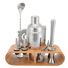 10Pcs/Set Stainless Steel Cocktail Shaker Ice Tong Mixer Drink Bartender Browser Kit Bars Set Tools Professional Tool