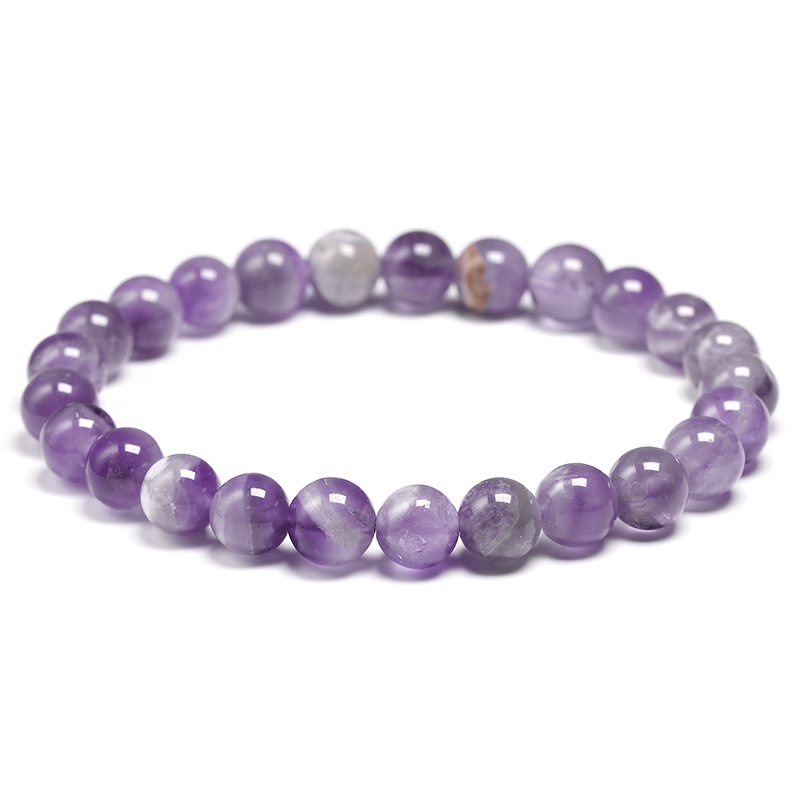 HTB1orikVhYaK1RjSZFnq6y80pXah Natural Dream Amethysts Quartz Energy Light Purple GemStone Bracelet Women Beaded Stretch Bracelet Energy Gift Jewelry