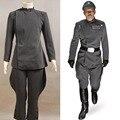 Star Wars Imperial Oficial Cinza Conjunto Uniforme Traje Cosplay Para O Dia Das Bruxas Partido Masculino Top E Calça