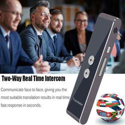 2019 Mais Recente Moda T8 Instantânea 40 Línguas Intérprete Tradutor De Voz Mini Portátil Bluetooth Wireles Inteligente Venda Quente
