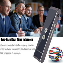 2019 Nieuwste Mode T8 Instant Voice Vertaler Mini Draagbare Bluetooth Wireles Intelligente Tolk 40 Talen Hot Koop(China)