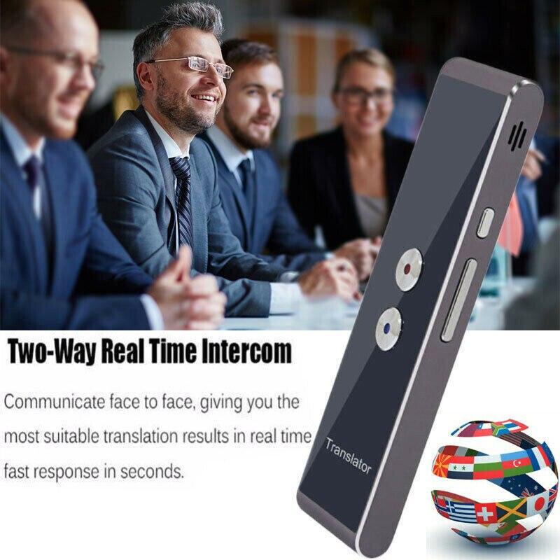 2019 neueste Mode T8 Instant Stimme Übersetzer Mini Tragbare Bluetooth Wireles Intelligente Dolmetscher 40 Sprachen Heißer Verkauf
