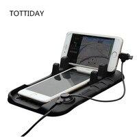 TOTTIDAY Araba Cep Telefonu tutucu Standı Ile USB Şarj Kablosu Tak iphone Samsung Için Ayarlanabilir Braketi Mıknatıs Konektörü