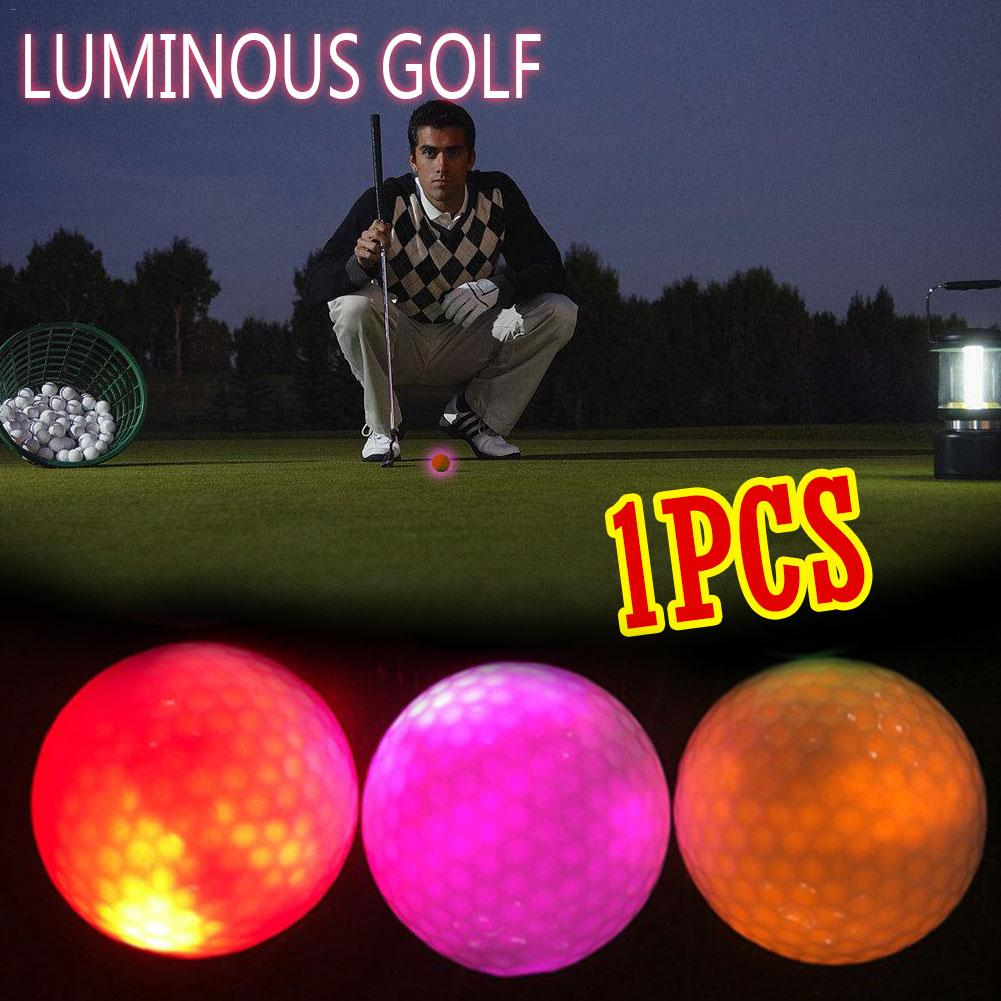 Golf Constantly Bright Ball Glowing Ball Golf LED Glow Ball Glowing Golf Ball Accessories Random Color